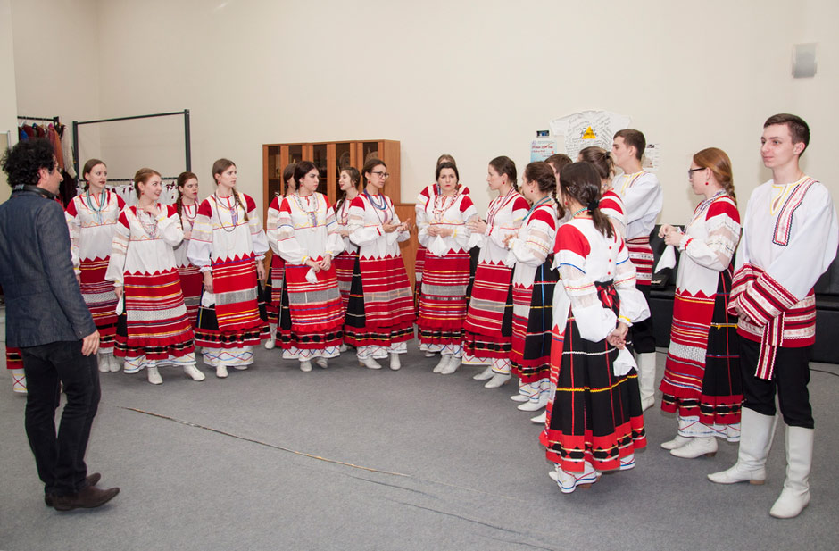 "Pokrov Folk Choir performing in Marios Joannou Elia's ""Sound of Vladivostok"" (c) FEFU"