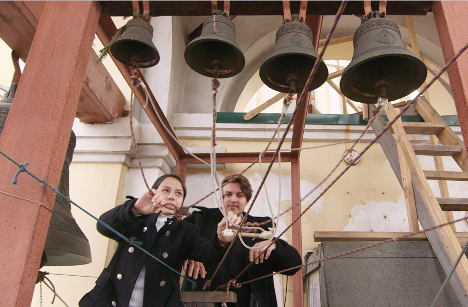 "Bell Player of the Cathedral of the Intercession Choir Vladivostok performing in Marios Joannou Elia's ""Sound of Vladivostok"" (c) SoV"